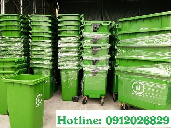 Báo giá thùng rác công nghiệp kích thước lớn 660L, 240L với giá rẻ