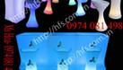 Bàn ghế cafe led, bàn ghế nhựa led đổi màu (ảnh 4)