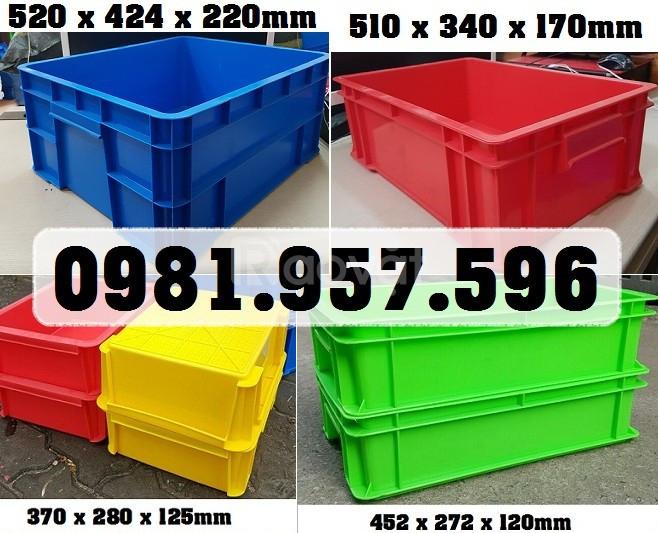 Hộp nhựa công nghiệp có nắp, hộp nhựa có nắp đủ kích thước (ảnh 4)