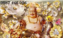 Tranh gạch men thần tài vàng 3d