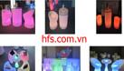 Bàn ghế cafe led, bàn ghế nhựa led đổi màu (ảnh 5)