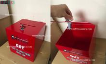 Hộp đựng tiền tip, hộp đựng tiền bo màu đỏ