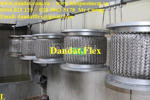 Khớp nối mềm kết nối mặt bích JIS, Ống nối mềm chống rung inox