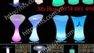 Bàn ghế nhựa cafe phát sáng, bàn ghế đèn led đổi màu giá tốt (ảnh 5)