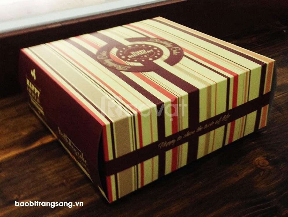 Bao bì Trang Sang - In hộp giấy đựng bánh sinh nhật số lượng ít giá rẻ (ảnh 1)