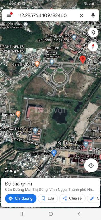 Bán lô góc đẹp 3 mặt tiền Đường lớn Vĩnh Ngọc, Nha Trang