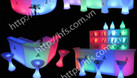 Bàn ghế cafe led, bàn ghế nhựa led đổi màu (ảnh 8)