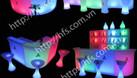 Bàn ghế nhựa cafe phát sáng, bàn ghế đèn led đổi màu giá tốt (ảnh 4)