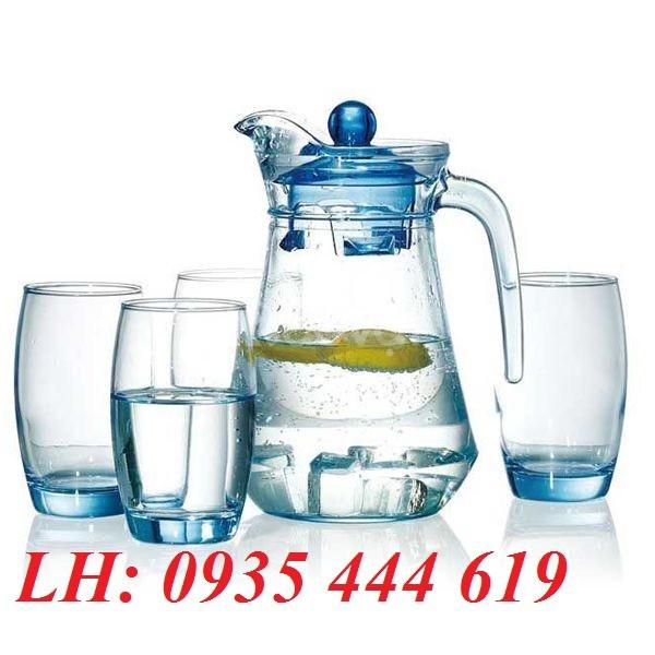 Ly thủy tinh, Bộ Bình nước in logo tặng quà khách hàng tại Quảng Ngãi
