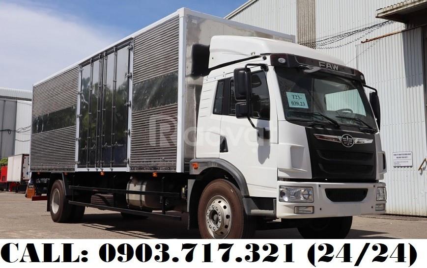 Xe tải Faw 8T35 thùng kín dài 8m