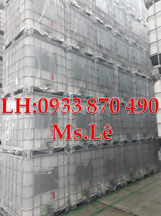Bán tank nhựa ibc vuông 1000L, bồn nhựa cũ đựng hóa chất 1000 lít TPHC
