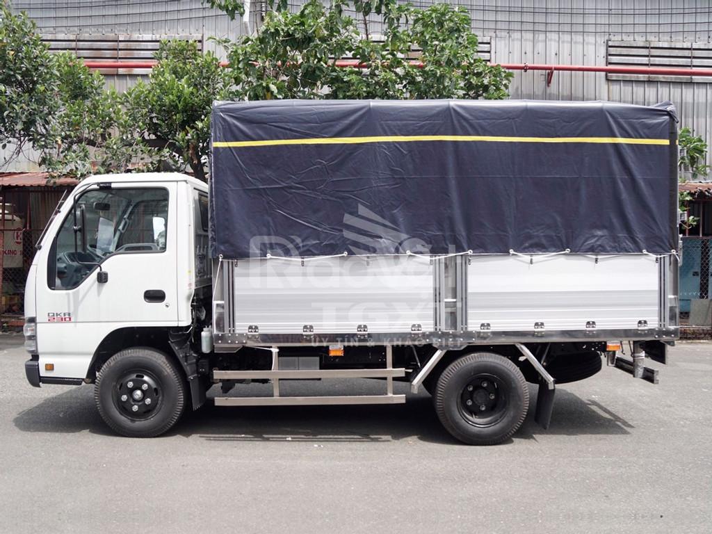 Isuzu QKR230 thùng bạt bửng nhôm, tải 1T, 1T4, 1T9, 2T4 (ảnh 6)