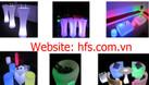 Bàn ghế nhựa cafe phát sáng đổi màu (ảnh 7)