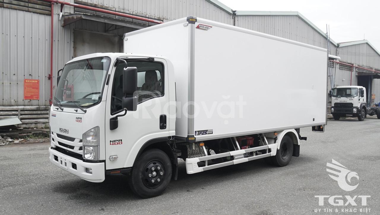 Isuzu NPR400 thùng bảo ôn đóng Quyền Auto - tải 3T7