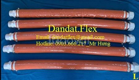 Khớp nối mềm inox lắp ren có bọc PJ chống cháy, Khớp nối mềm inox 304