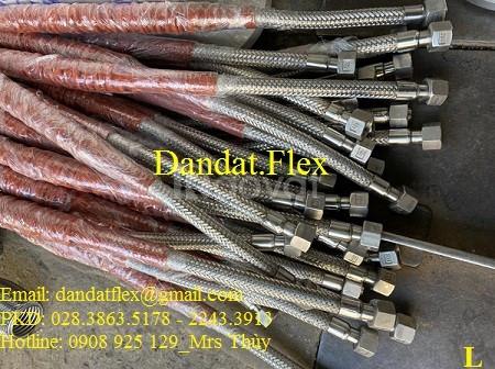 Ống mềm bọc PJ chống cháy/khớp nối mềm inox 304 chống rung/ống nối mềm