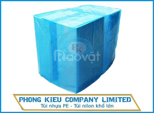 Túi nhựa pe khổ lớn - Túi nilon trùm lưu trữ bảo quản pallet, hàng hoá