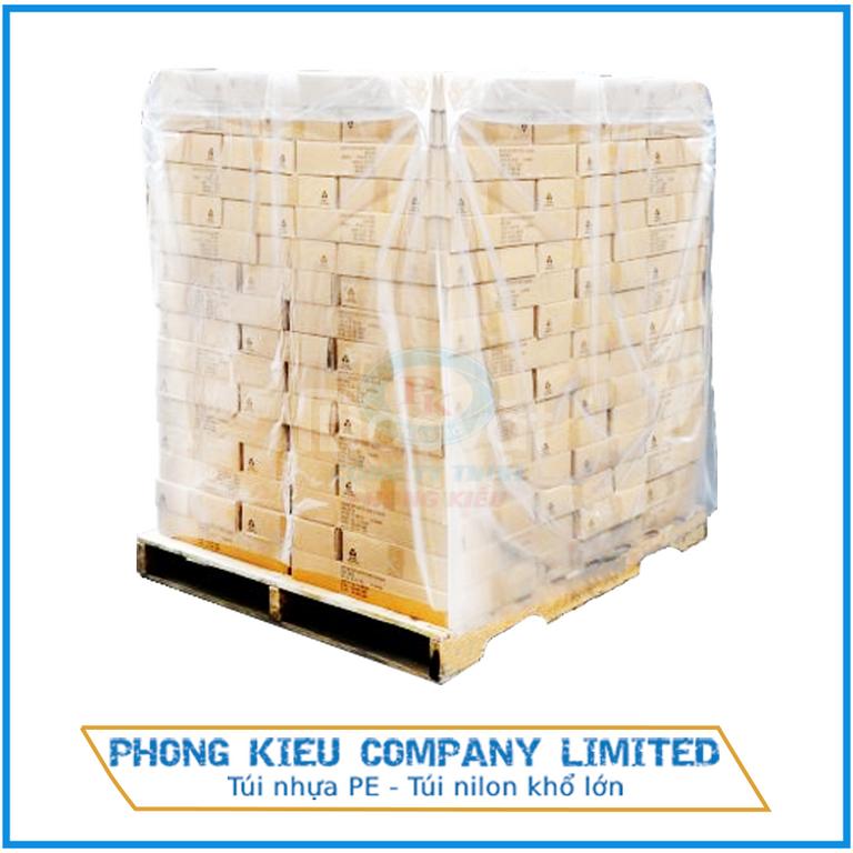Túi nhựa pe - Túi nilon cỡ lớn trumg hàng hoá, pallet, gạch