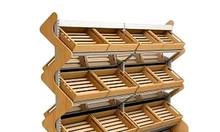 Cần bán : kệ gỗ trưng bày thực phẩm khô siêu thị