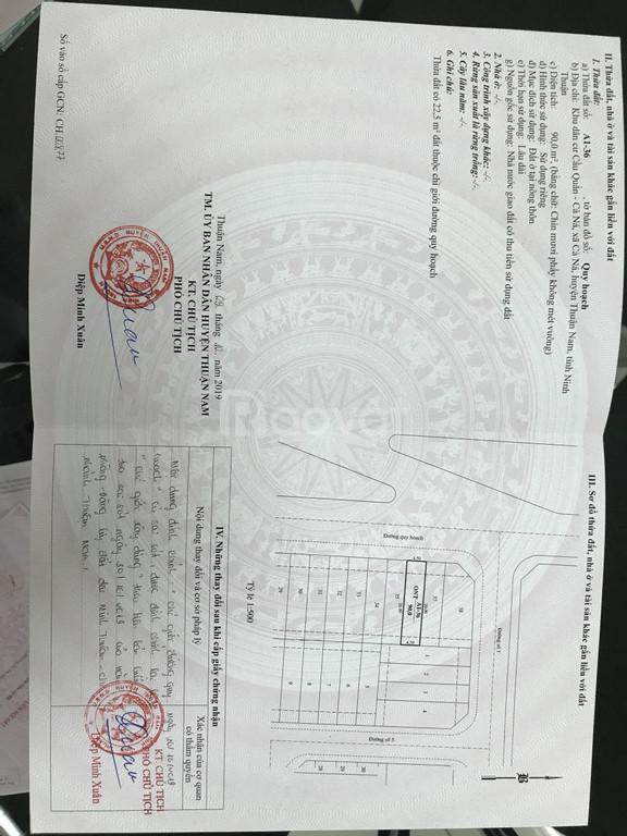 Chính chủ cần bán lô đất đường đi Mũi Dinh Ninh Thuận, 805 triệu/98m2