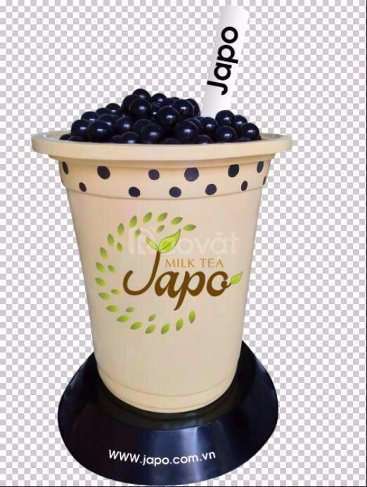 Mô hình ly trà sữa composite
