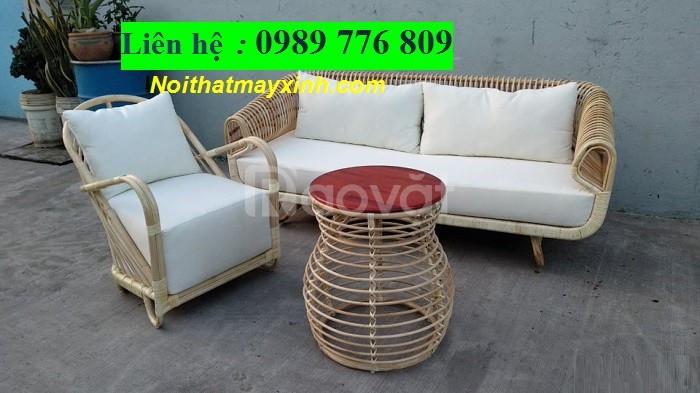 Sofa mây tre phong cách hiện đại (ảnh 5)