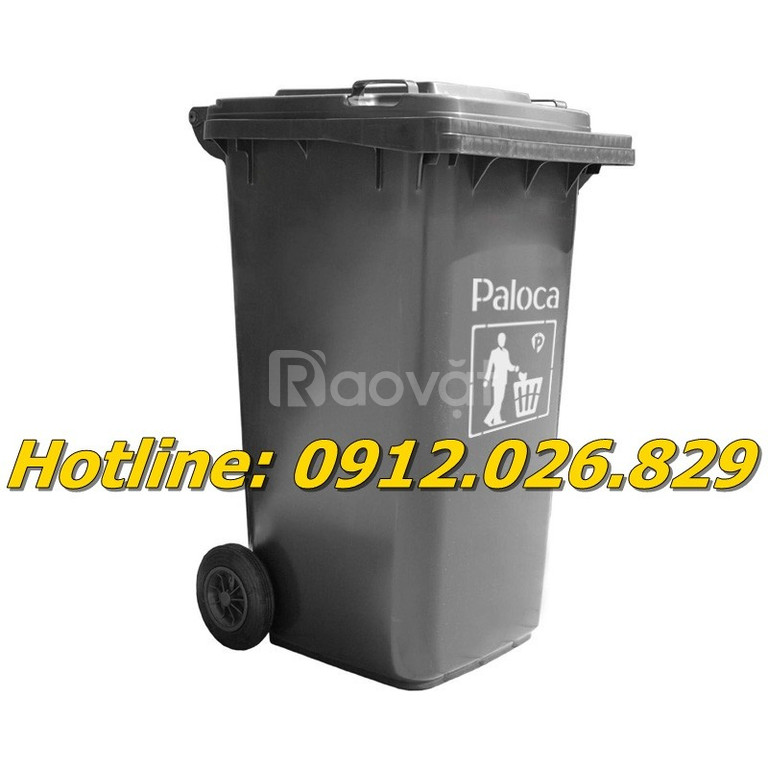Bán thùng rác nhựa màu đen giá rẻ