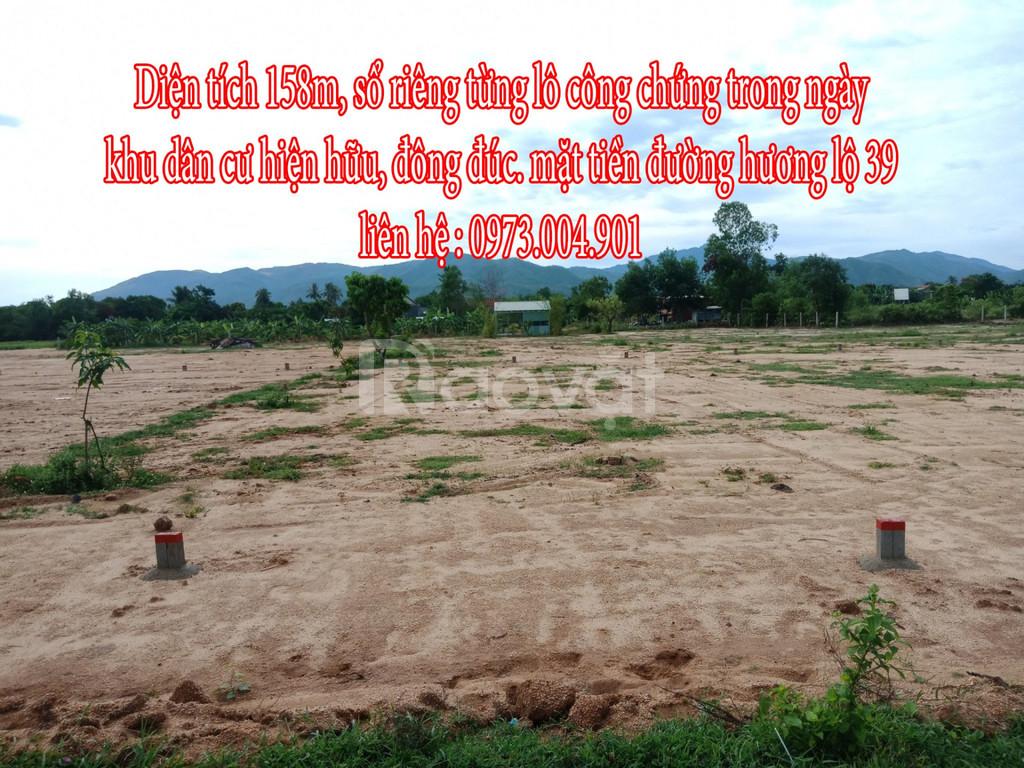 Bán đất mặt tiền đường Hương Lộ 39 Suối Tiên Diên Khánh