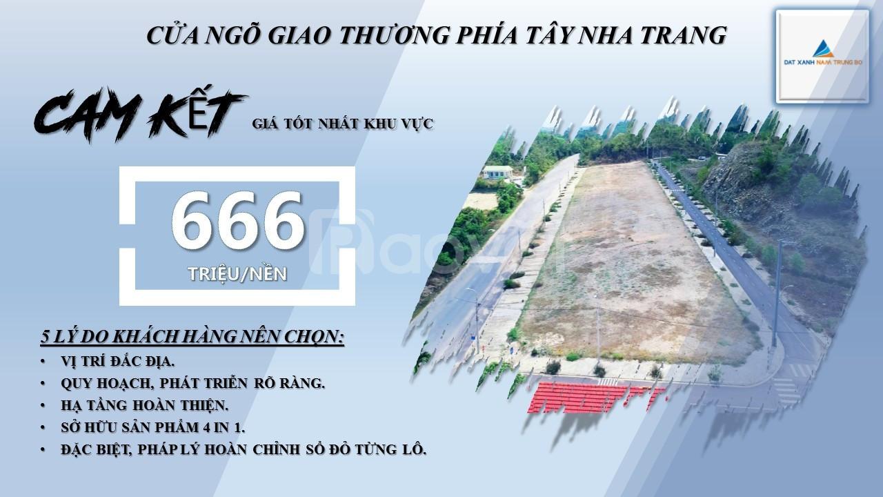 Chỉ với 600tr sở hữu ngay đất đô thị sổ đỏ gần CNN Sông Cầu, Khánh Hòa