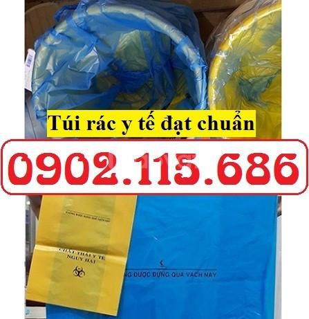 Túi phân loại chất thải y tế, túi rác y tế màu vàng, túi rác y tế màu