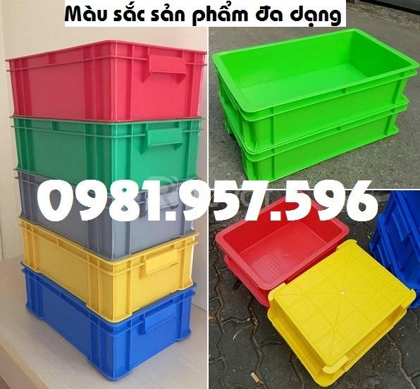 Thùng nhựa công nghiệp nhiều kích thước, thùng nhựa có nắp