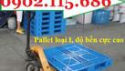 Pallet nhựa công nghiệp, pallet nhựa giá rẻ, pallet nhựa kê hàng, pall (ảnh 1)