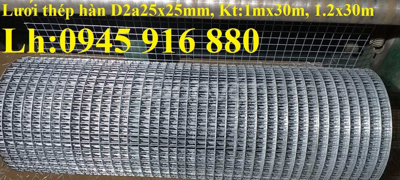Lưới thép hàn D2 mắt 50x50 mạ kẽm khổ 1mx30m, 1.2mx30m