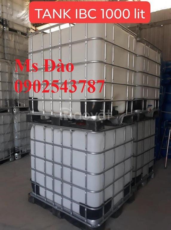 Tank 1000l nhựa IBC , bồn đựng hóa chất , bồn đựng thực phẩm