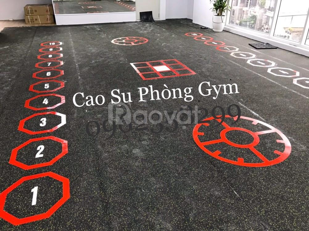 Thảm cao su phòng gym  (ảnh 6)