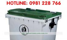 Giá thùng rác công nghiệp cỡ lớn 1100 lít