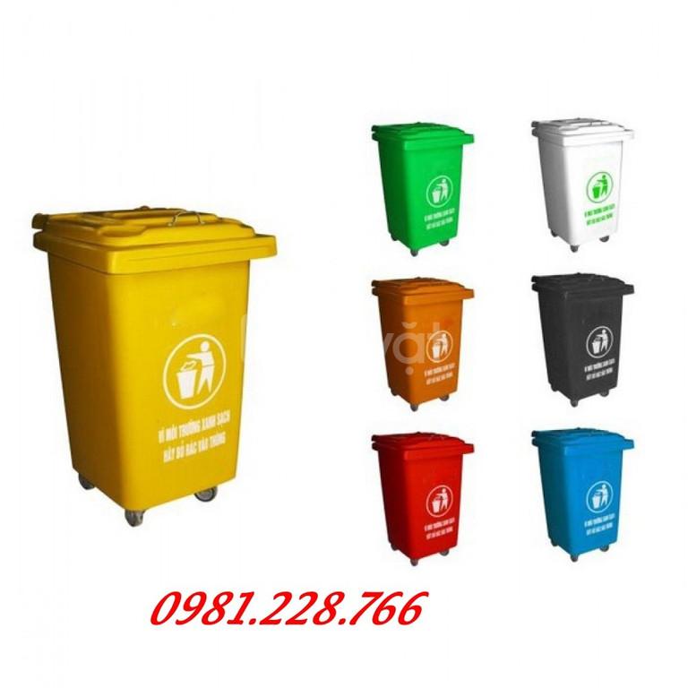 Thùng rác nhựa 60l chấ lượng cao