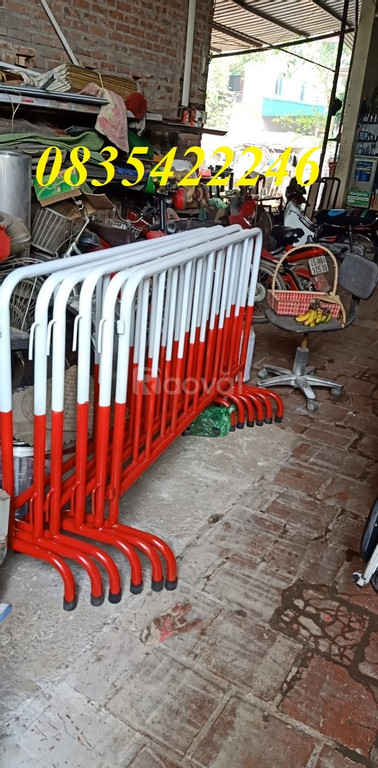 Hàng rào di động sơn phản quang, hàng rào chắn tạm thời