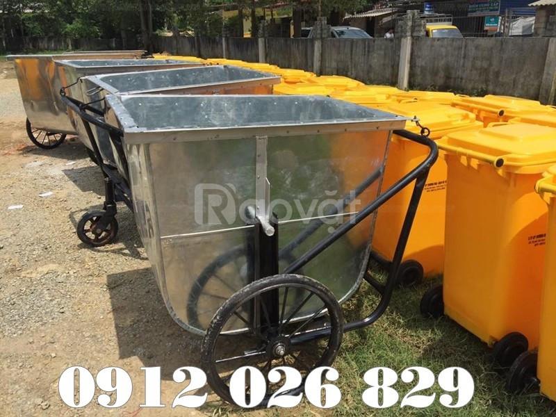 Thông số kỹ thuật cần biết rõ khi mua bán xe đẩy rác tôn 400L  (ảnh 5)
