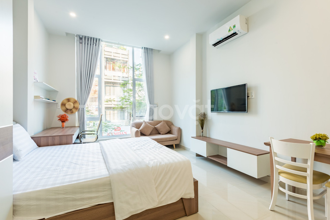 Cho thuê Khách sạn Căn hộ Studio giá rẻ mới xây gần chợ Bến Thành Q1