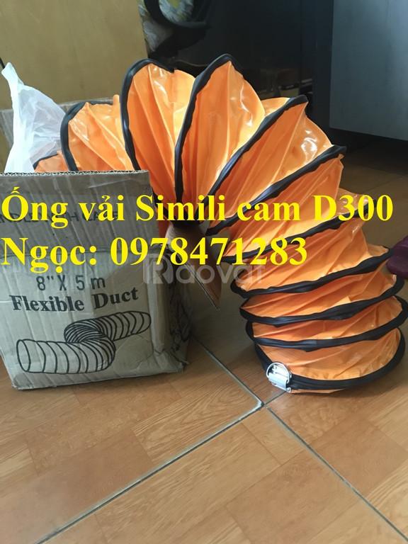 Tổng đại lý ống gió vải Simili cam phi 300, phi 500, phi 600 thông gió