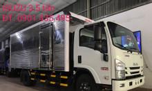 Isuzu 3.490 kg thùng kín, khuyến mại thuế, máy lạnh
