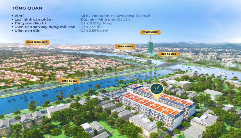 Khu dân cư cao cấp thông minh vạn xuân ven sông  trung tâm tp Huế (ảnh 1)