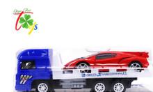 Đồ chơi xe tải chở Lamborghini cho bé