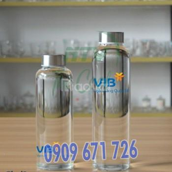 Nhận in bình nước thủy tinh 500ml làm quà tặng giá rẻ