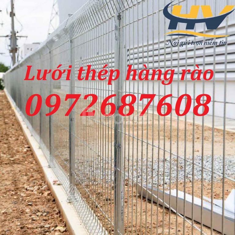 Hàng rào lưới thép, lưới thép hàn, hàng rào mạ kẽm