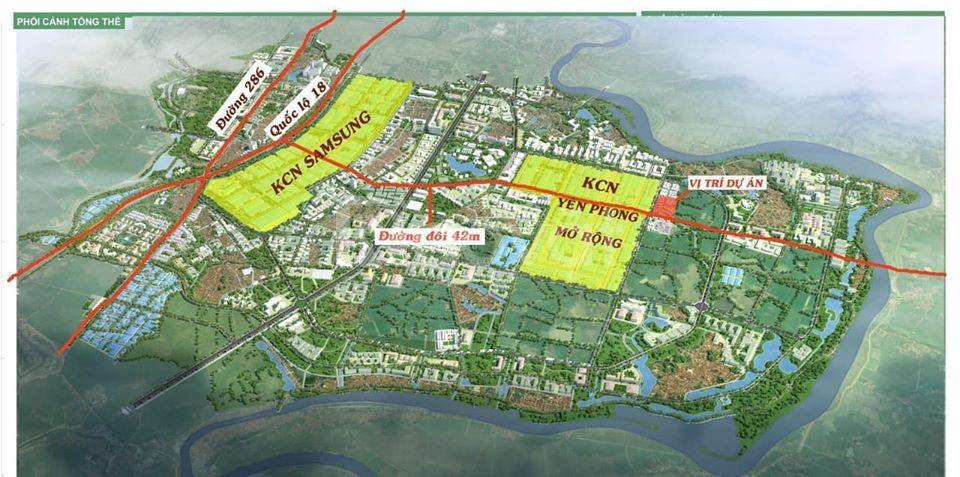 Bán gấp lô góc dự án đất đấu giá cạnh KCN Yên Phong mở rộng