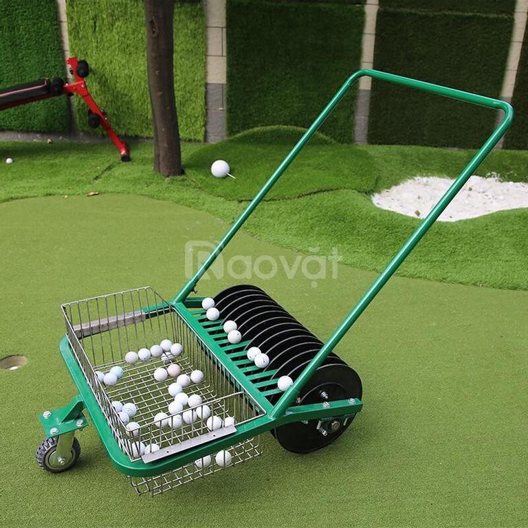 Xe nhặt bóng golf ( xe nhặt banh golf ) đẩy tay công suất nhặt 600 quả