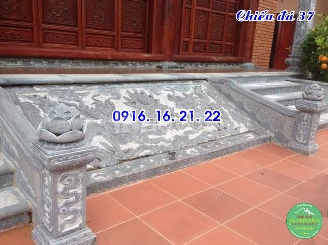 Mẫu chiếu rồng nhà thờ họ từ đường đình chùa đẹp bằng đá