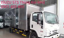 isuzu 5T5 thùng Kín 6.2m, KM 50% thuế, máy lạnh, 9 phiếu bảo dưỡng...